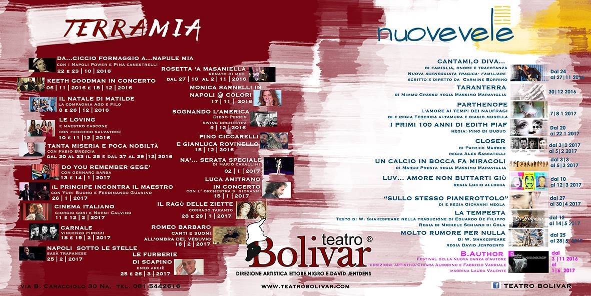 nuova stagione teatro bolivar